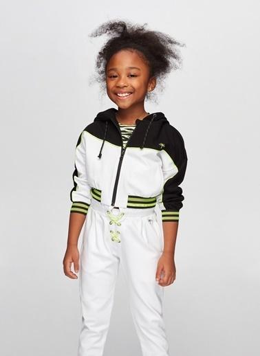 Tyess Tyess B&G Siyah Beyaz Kız Çocuk Eşofman Üstü Siyah
